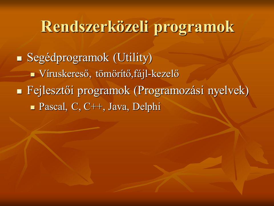 Rendszerközeli programok