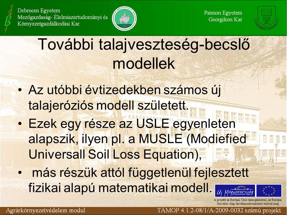 További talajveszteség-becslő modellek
