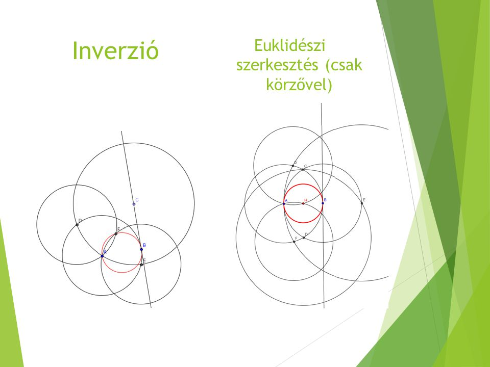Euklidészi szerkesztés (csak körzővel)