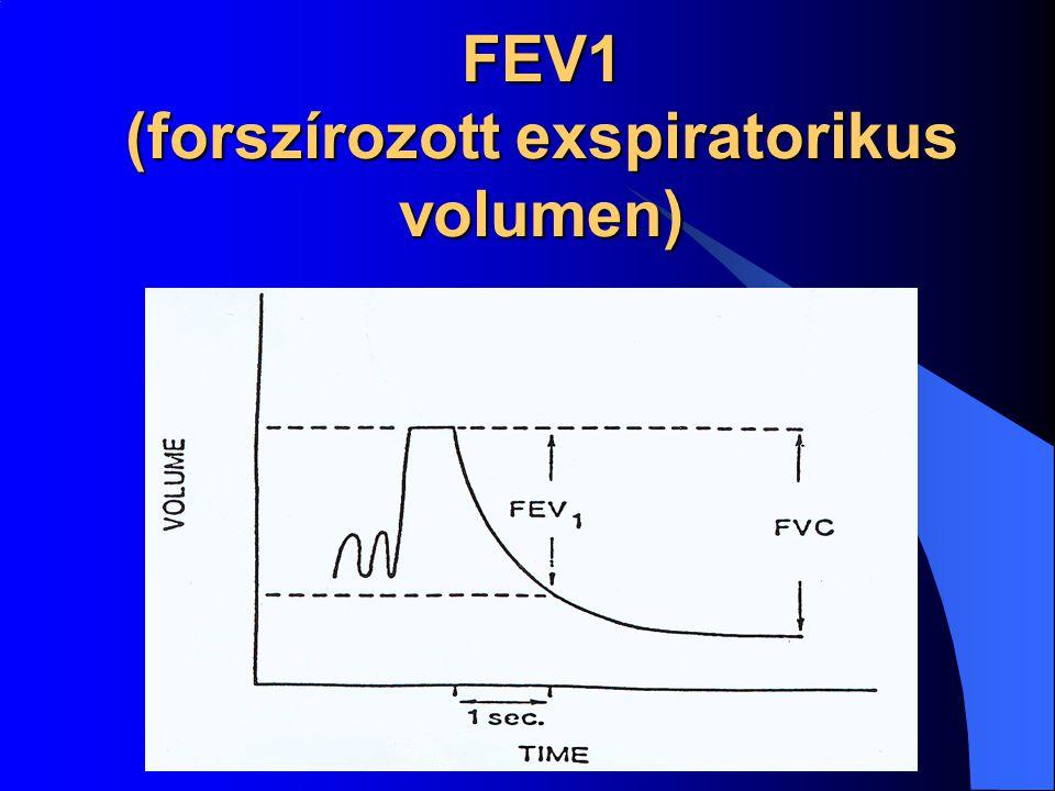 FEV1 (forszírozott exspiratorikus volumen)