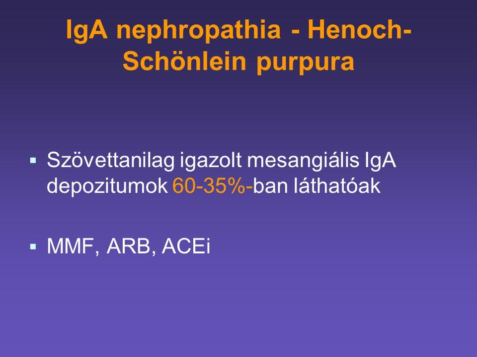 IgA nephropathia - Henoch-Schönlein purpura