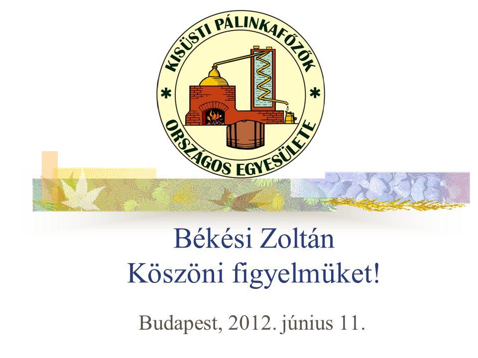Békési Zoltán Köszöni figyelmüket!