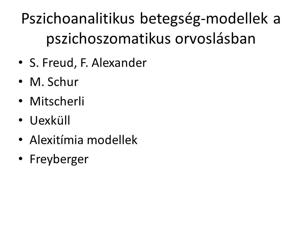 Pszichoanalitikus betegség-modellek a pszichoszomatikus orvoslásban