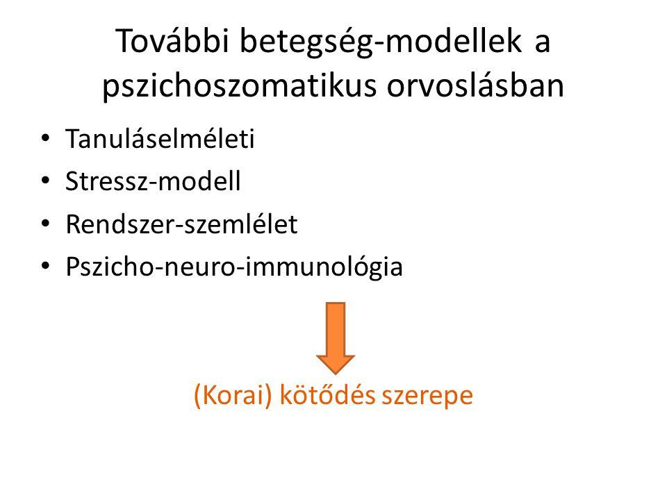 További betegség-modellek a pszichoszomatikus orvoslásban