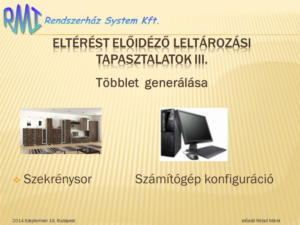 Eltérést előidéző LELTÁROZÁSI TAPASZTALATOK III.