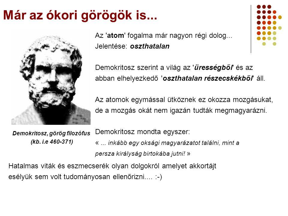 Demokritosz, görög filozófus