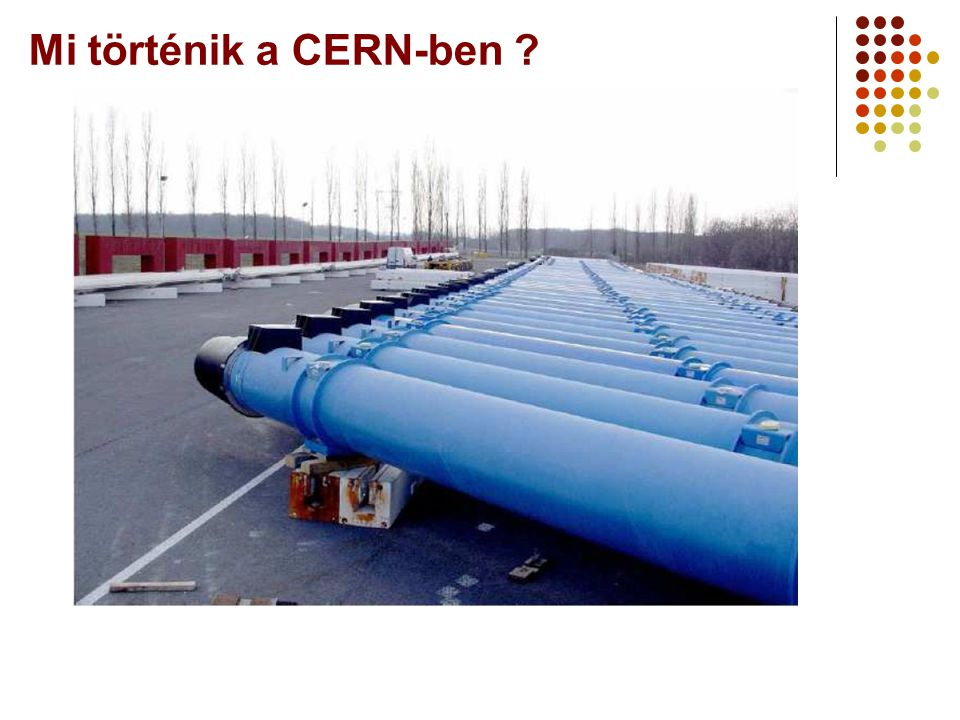 Mi történik a CERN-ben A Webt-ől a Grid-ig 2006 augusztus 25.