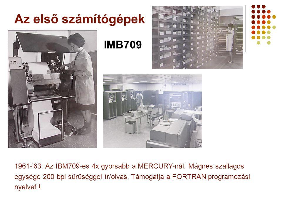 Az első számítógépek IMB709