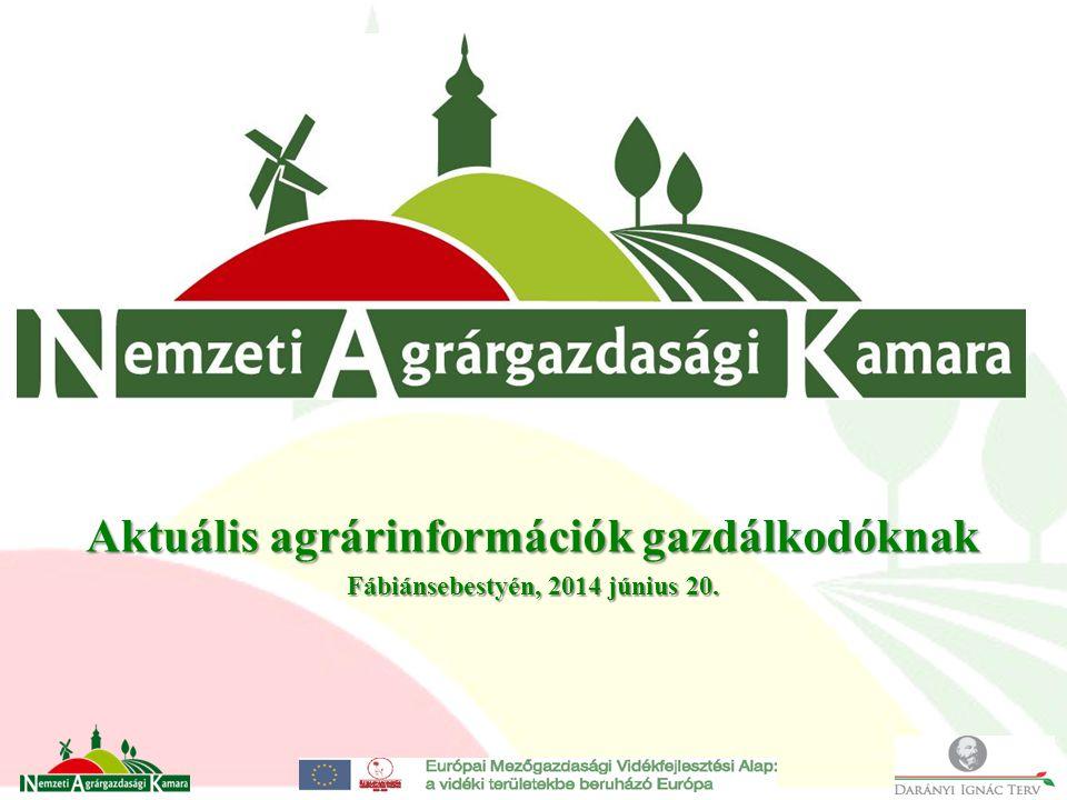Aktuális agrárinformációk gazdálkodóknak