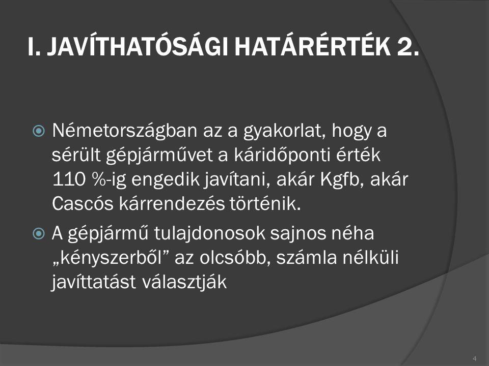 I. JAVÍTHATÓSÁGI HATÁRÉRTÉK 2.