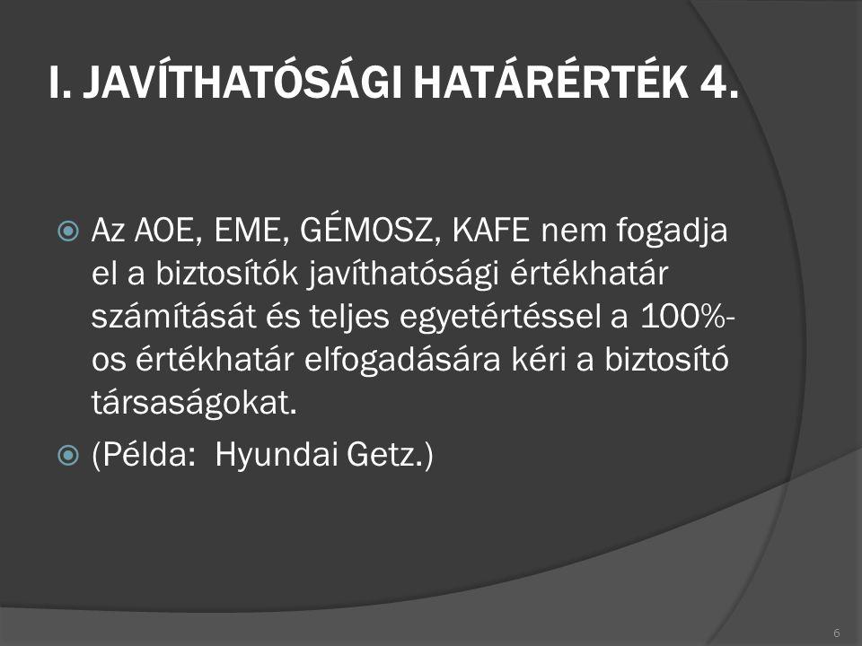 I. JAVÍTHATÓSÁGI HATÁRÉRTÉK 4.