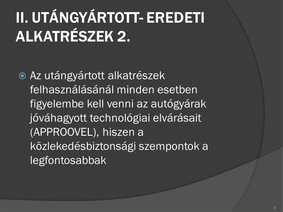 II. UTÁNGYÁRTOTT- EREDETI ALKATRÉSZEK 2.