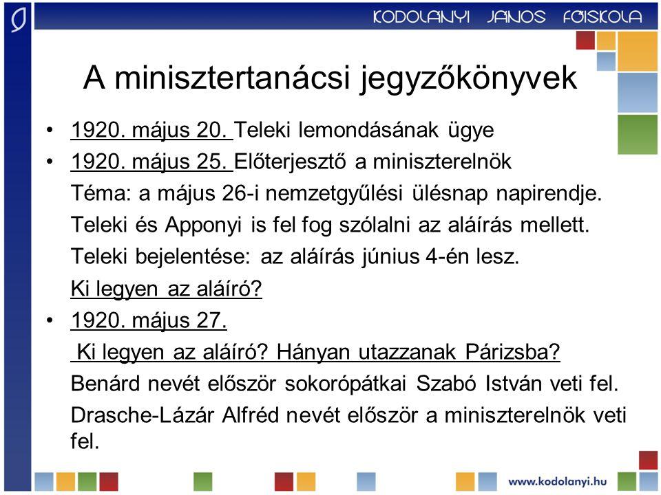 A minisztertanácsi jegyzőkönyvek