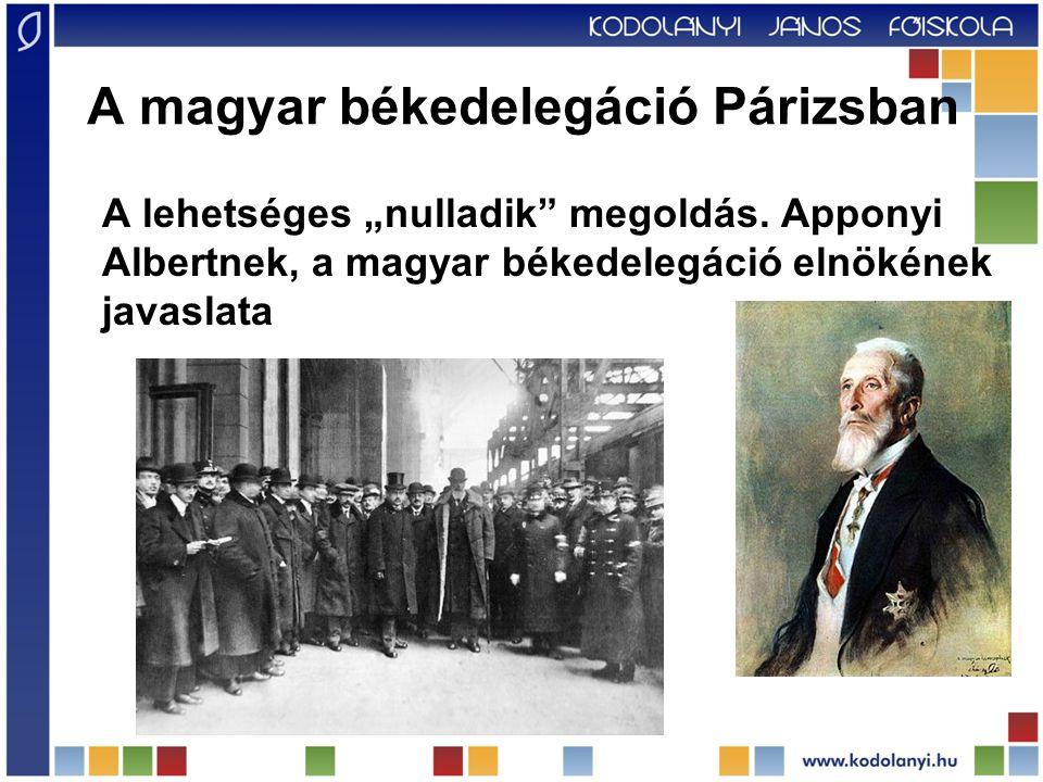 A magyar békedelegáció Párizsban