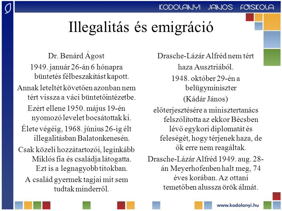 Illegalitás és emigráció