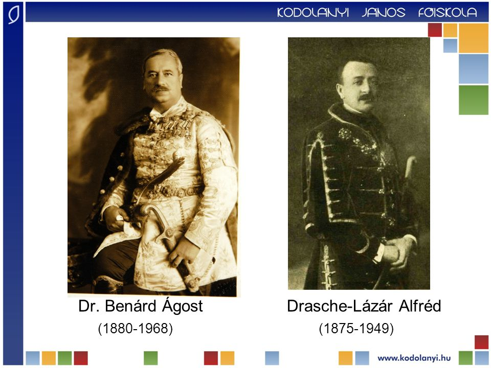 Dr. Benárd Ágost Drasche-Lázár Alfréd