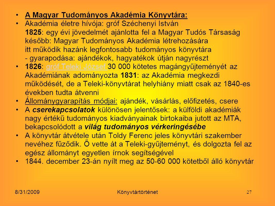 A Magyar Tudományos Akadémia Könyvtára: