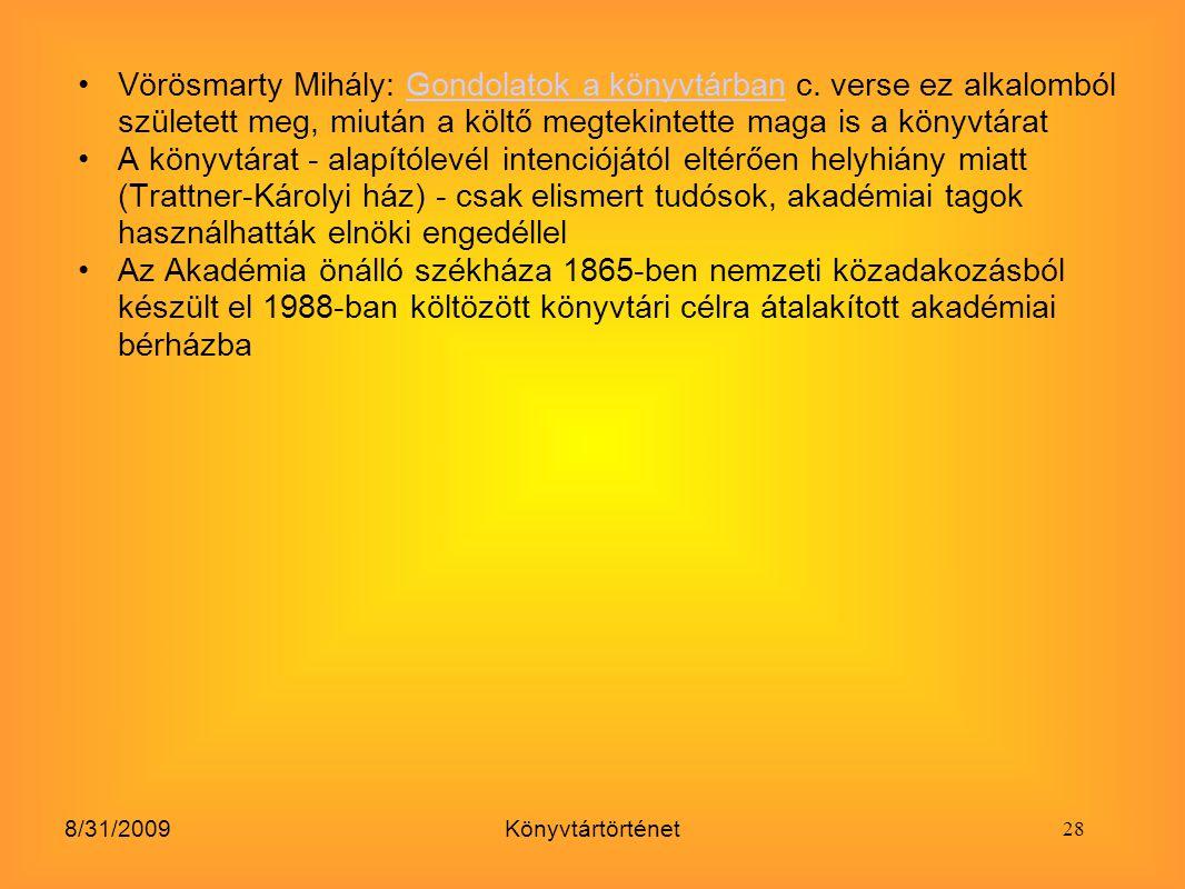 Vörösmarty Mihály: Gondolatok a könyvtárban c