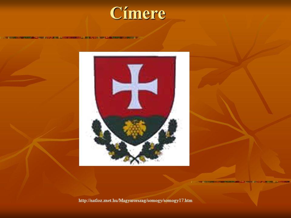Címere http://natloz.znet.hu/Magyarorszag/somogy/somogy17.htm