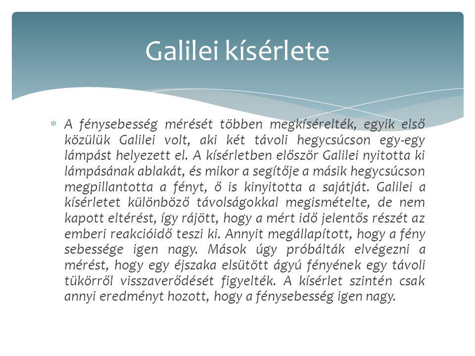 Galilei kísérlete