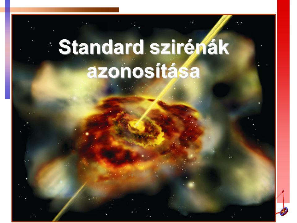 Standard szirénák azonosítása