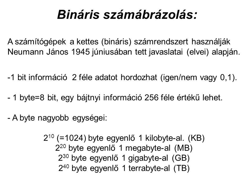 Bináris számábrázolás: