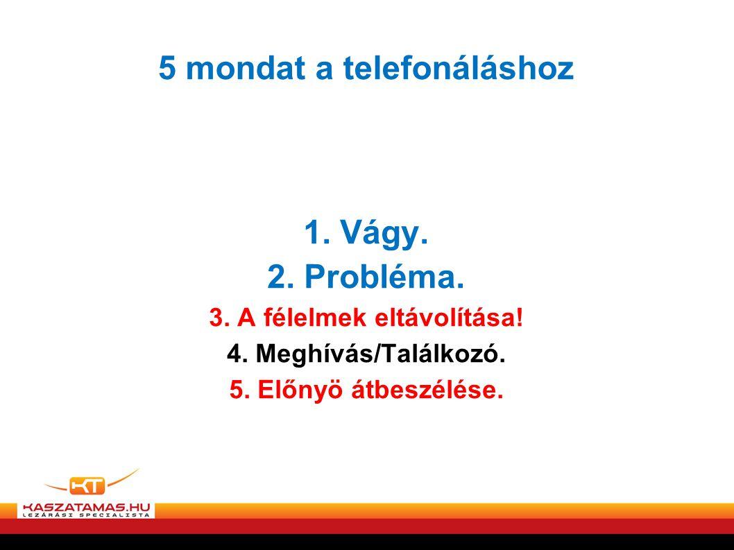 5 mondat a telefonáláshoz
