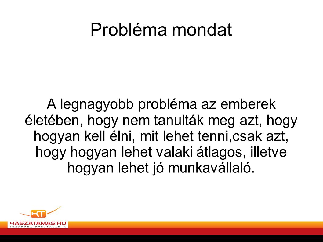 Probléma mondat