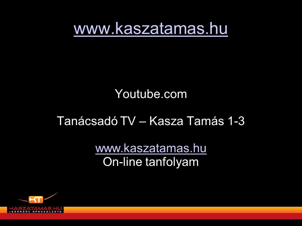 Tanácsadó TV – Kasza Tamás 1-3