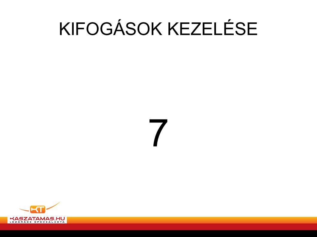 KIFOGÁSOK KEZELÉSE 7