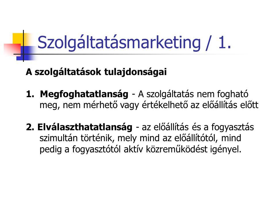 Szolgáltatásmarketing / 1.