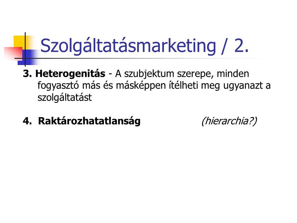Szolgáltatásmarketing / 2.