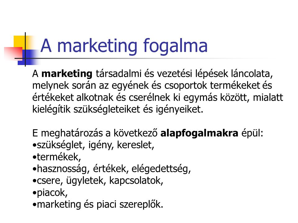 A marketing fogalma