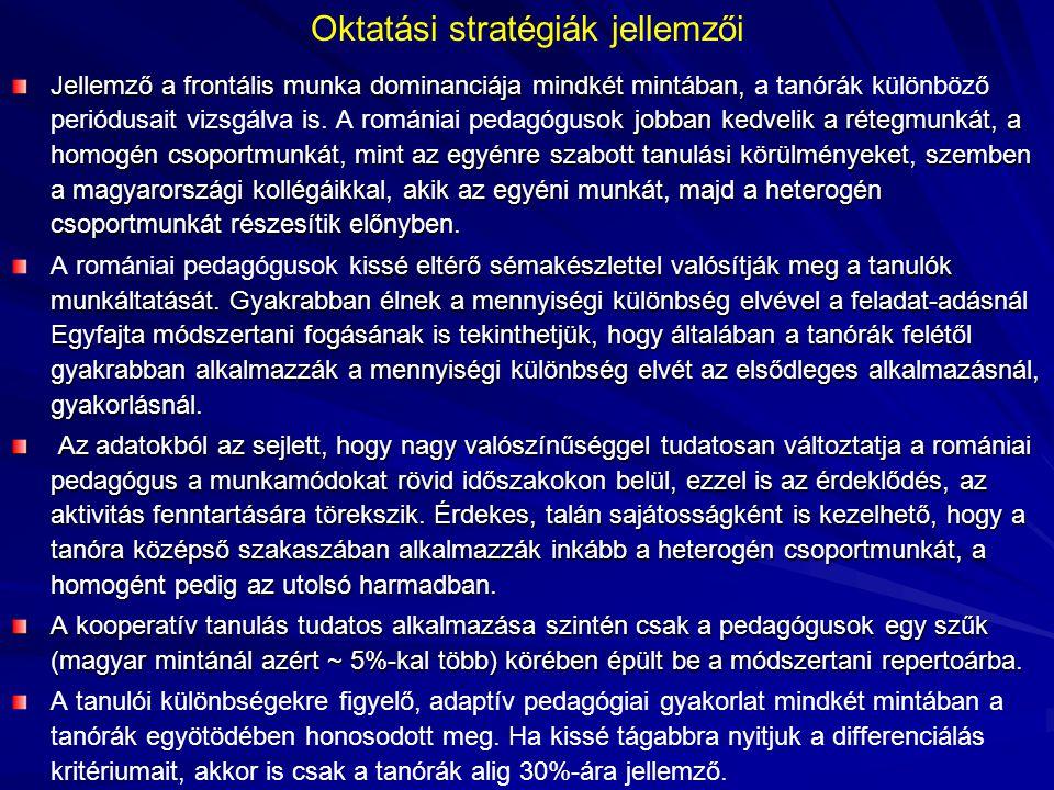 Oktatási stratégiák jellemzői