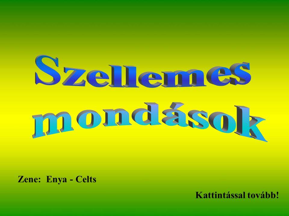 Szellemes mondások Zene: Enya - Celts Kattintással tovább!