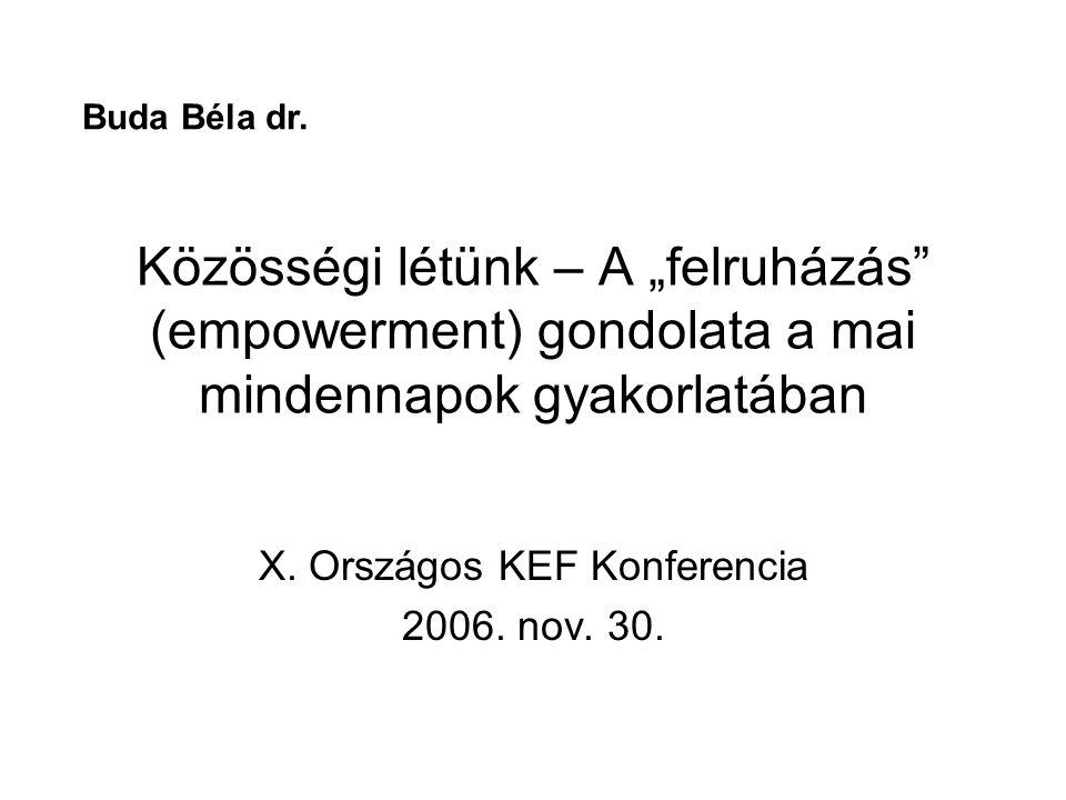 X. Országos KEF Konferencia 2006. nov. 30.