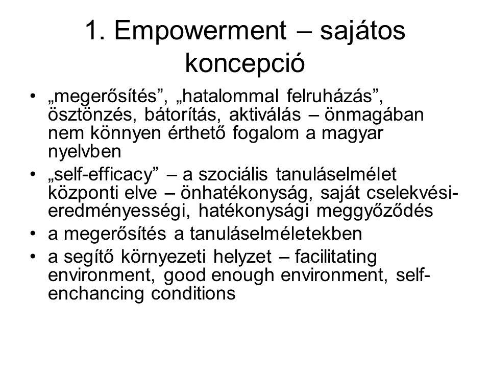 1. Empowerment – sajátos koncepció