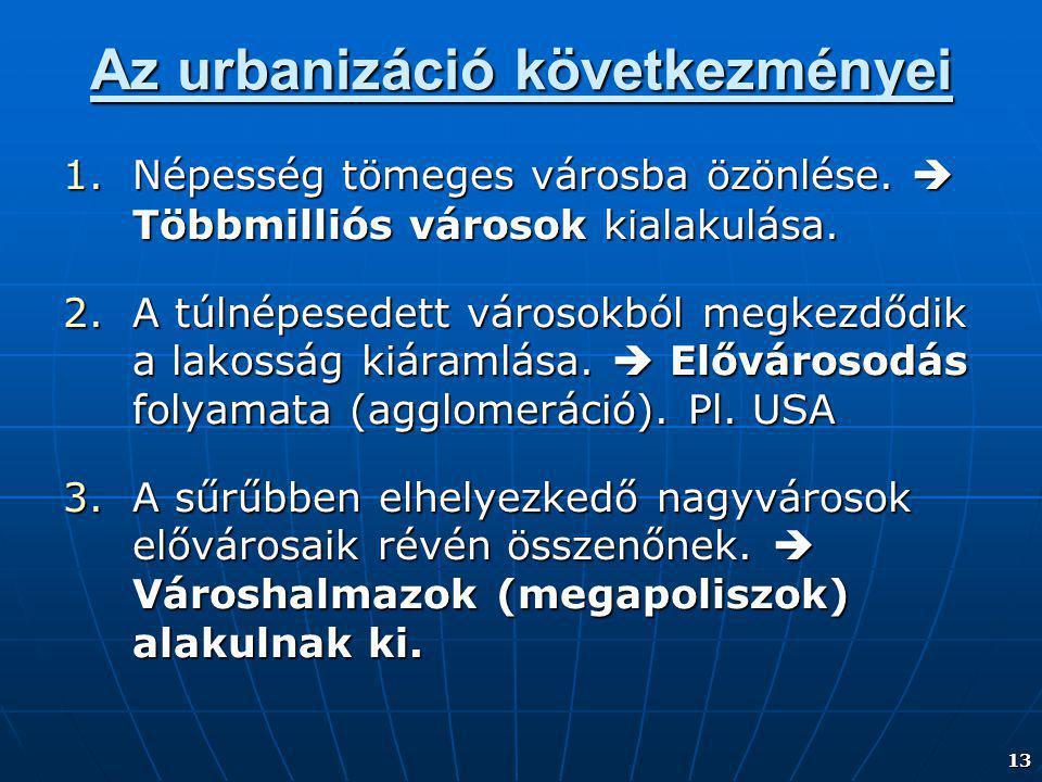 Az urbanizáció következményei