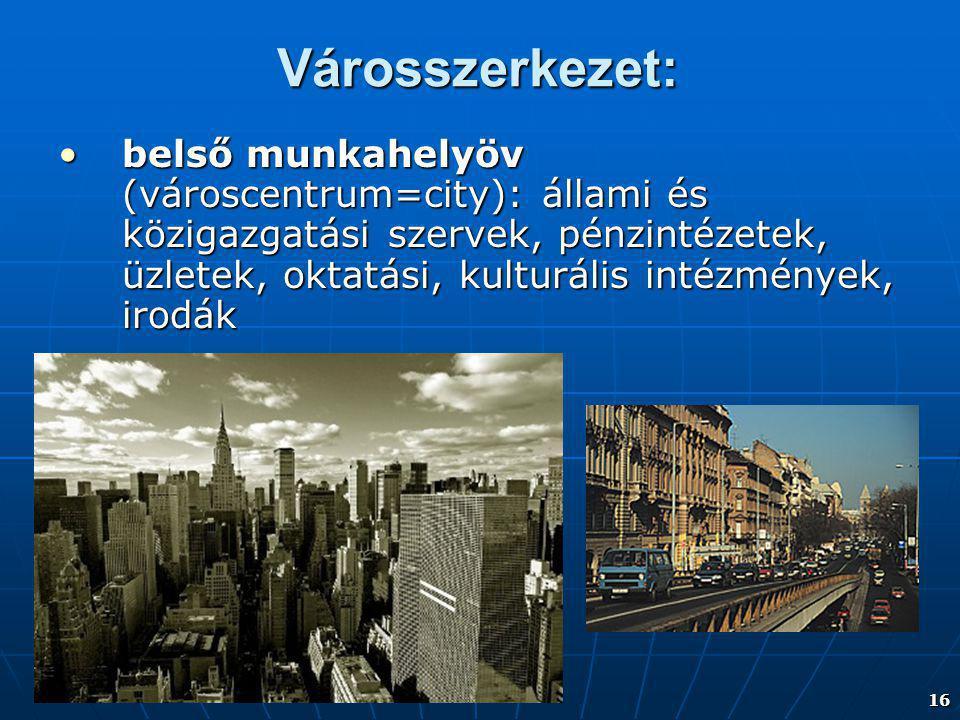 Városszerkezet: