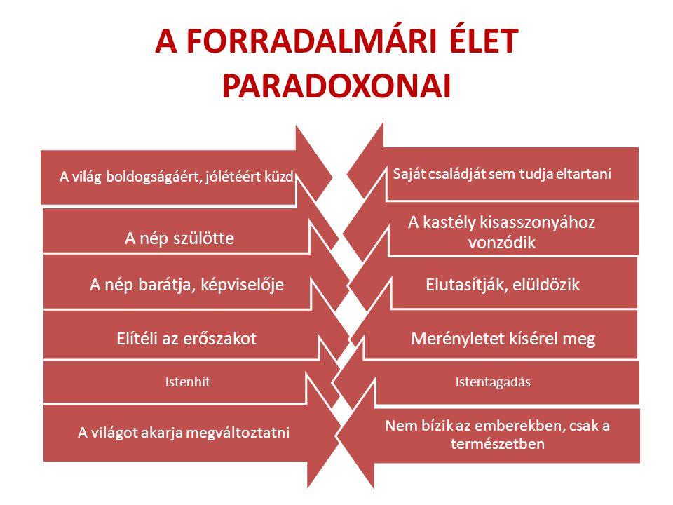 A FORRADALMÁRI ÉLET PARADOXONAI