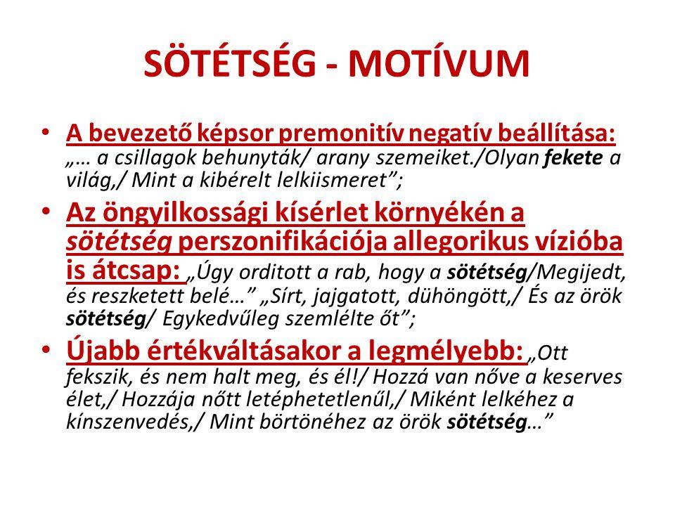 SÖTÉTSÉG - MOTÍVUM