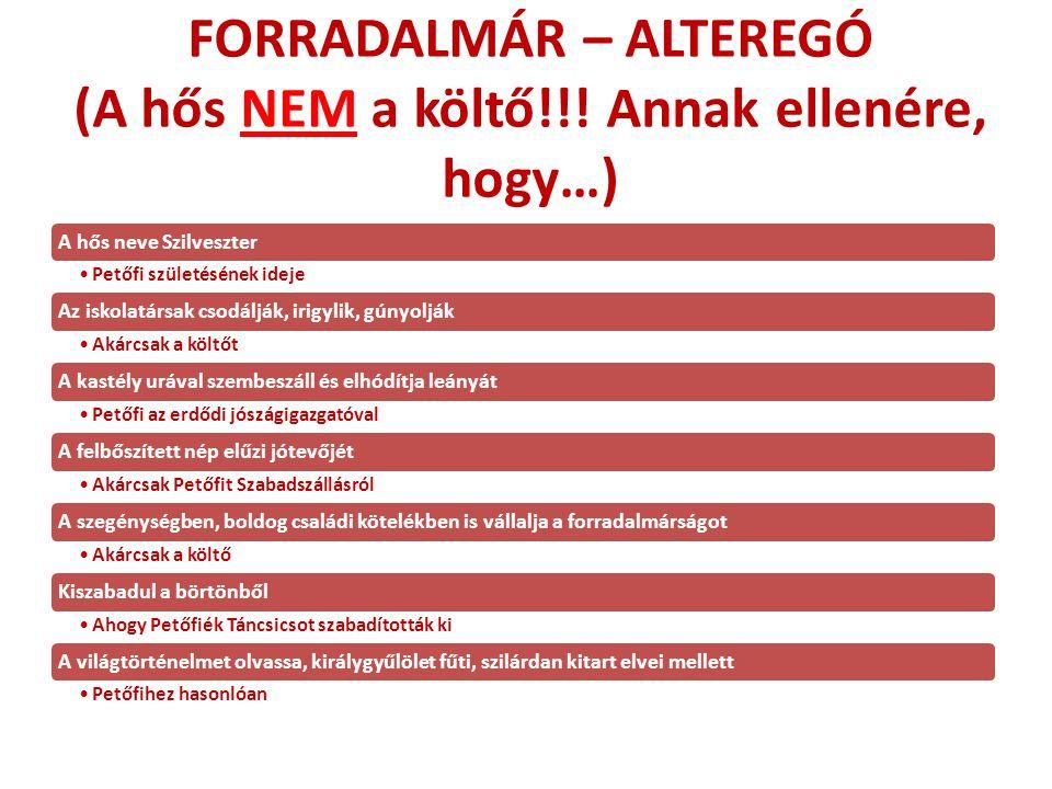 FORRADALMÁR – ALTEREGÓ (A hős NEM a költő!!! Annak ellenére, hogy…)