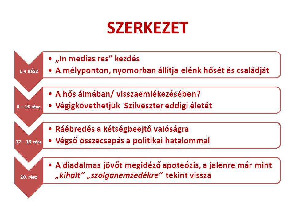 """SZERKEZET 1-4 RÉSZ """"In medias res kezdés"""