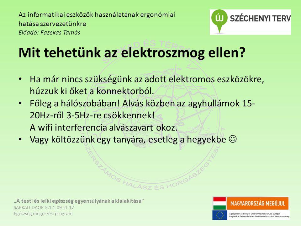 Mit tehetünk az elektroszmog ellen
