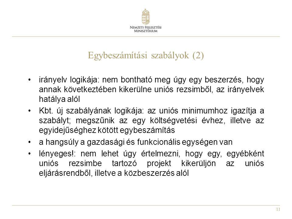Egybeszámítási szabályok (2)
