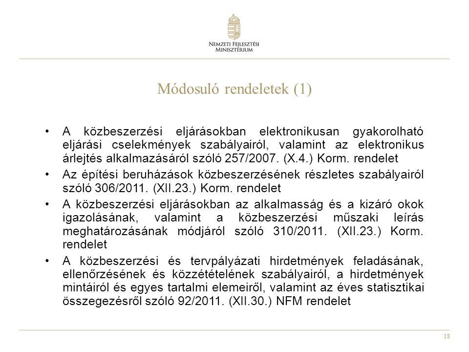 Módosuló rendeletek (1)
