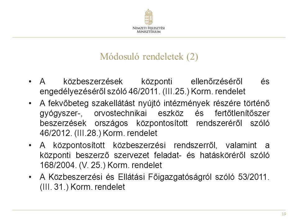 Módosuló rendeletek (2)