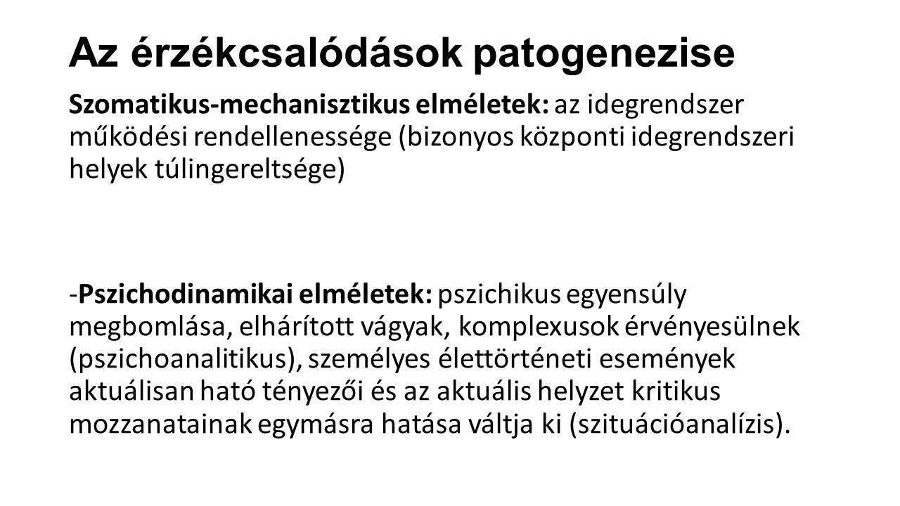 Az érzékcsalódások patogenezise