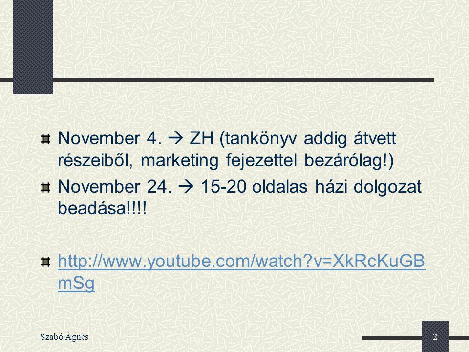 November 24.  15-20 oldalas házi dolgozat beadása!!!!