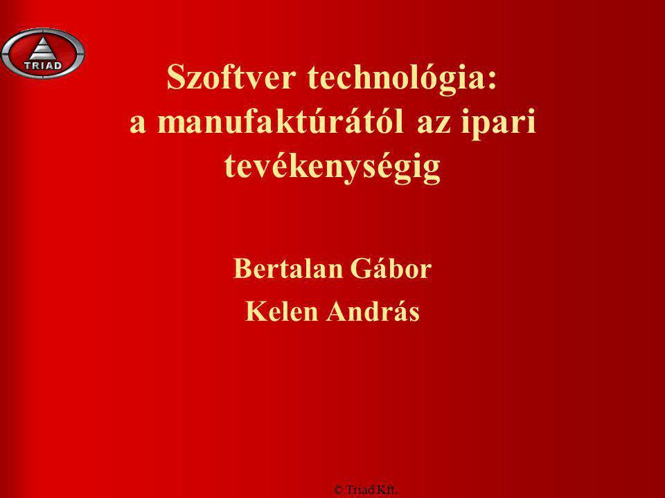 Szoftver technológia: a manufaktúrától az ipari tevékenységig